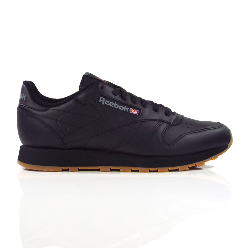 58c9e701111 Reebok Classic Leather Shoes - Black Gum - Detroit City Skateboards Co.