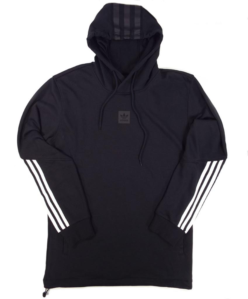 Adidas Crnerd HD Hooded Sweatshirt - Black White Black Reflective ... f8b0fa586fd3