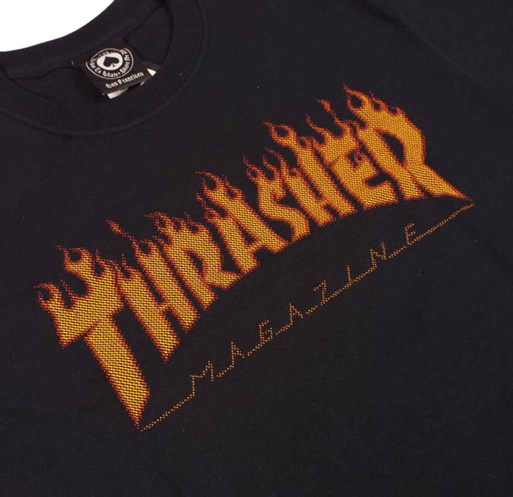 Thrasher Flame Halftone T-Shirt - Black