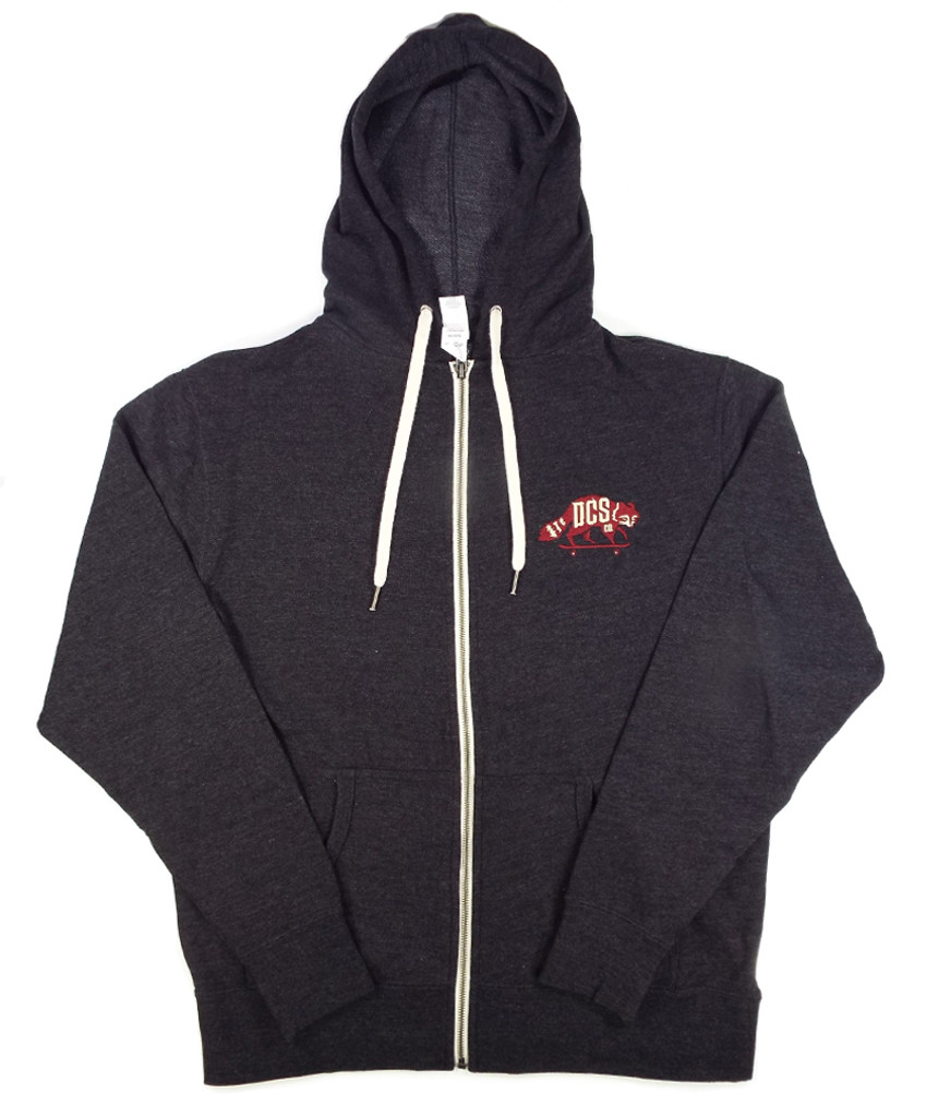 DCS Embroidered Logo Hooded Sweatshirt - Charcoal Heather