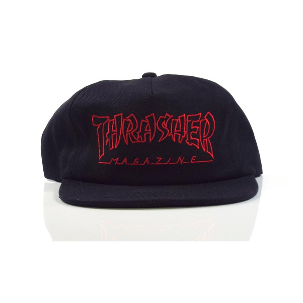 Thrasher China Banks Snapback Hat - Black