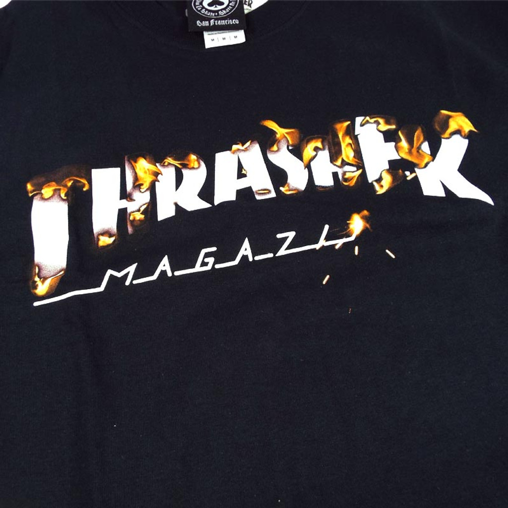 Thrasher Intro Burner T-Shirt - Black