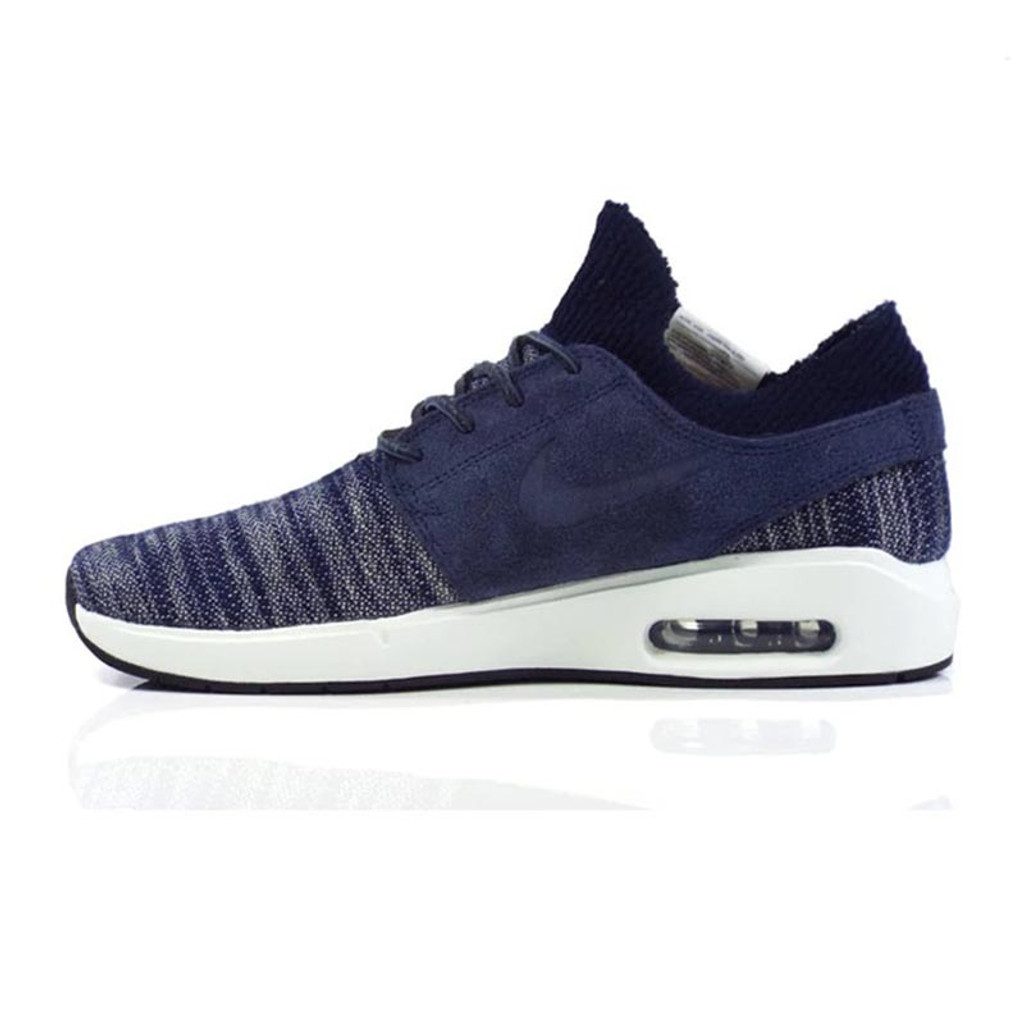 Nike SB Air Max Stefan Janoski 2 Premium Shoes - Obsidian/Obsidian-Summit White
