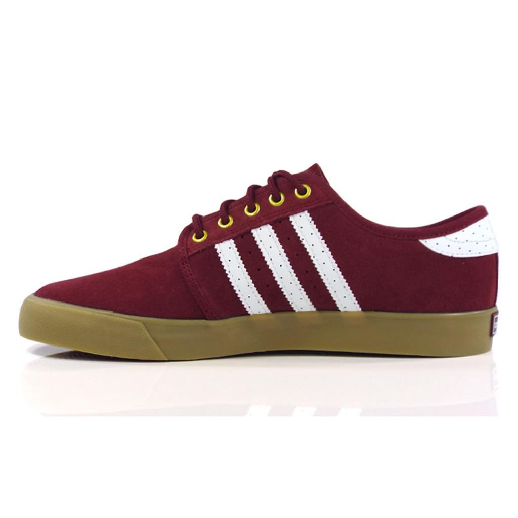 Adidas Seeley Shoes - Collegiate Burgundy/White/Gold Metallic
