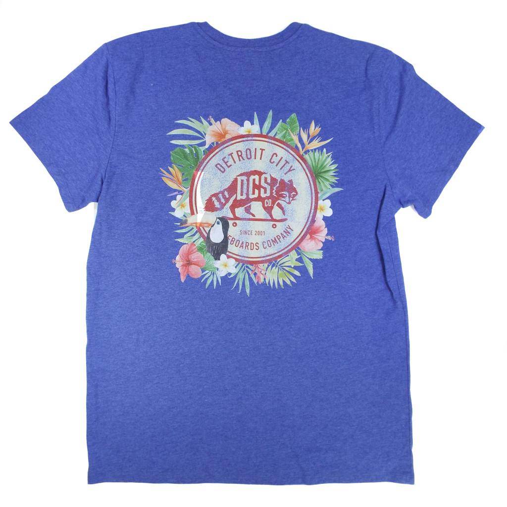 DCS Floral Jungle Vintage T-Shirt - Royal Heather