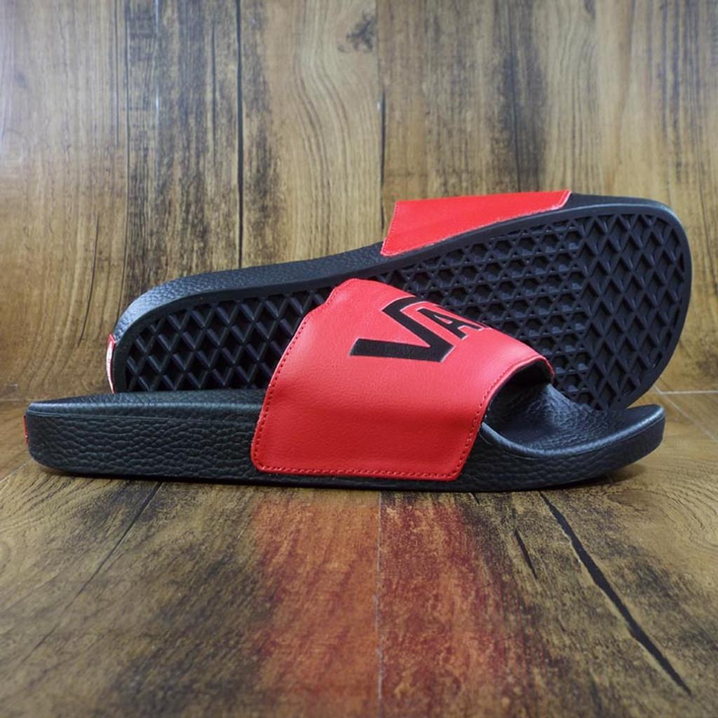 Vans Slide On - Red/Black