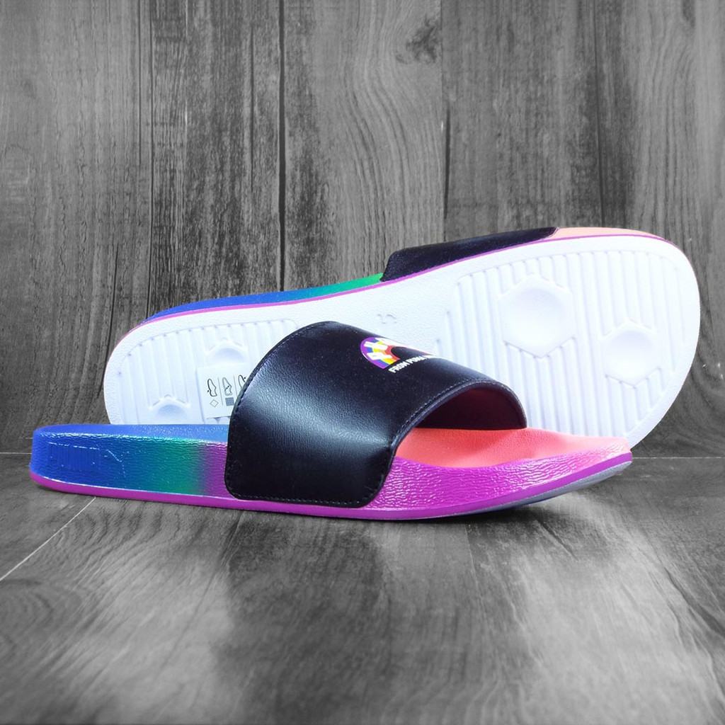 Puma Leadcat Pride Slide On's - Black/White/Rainbow