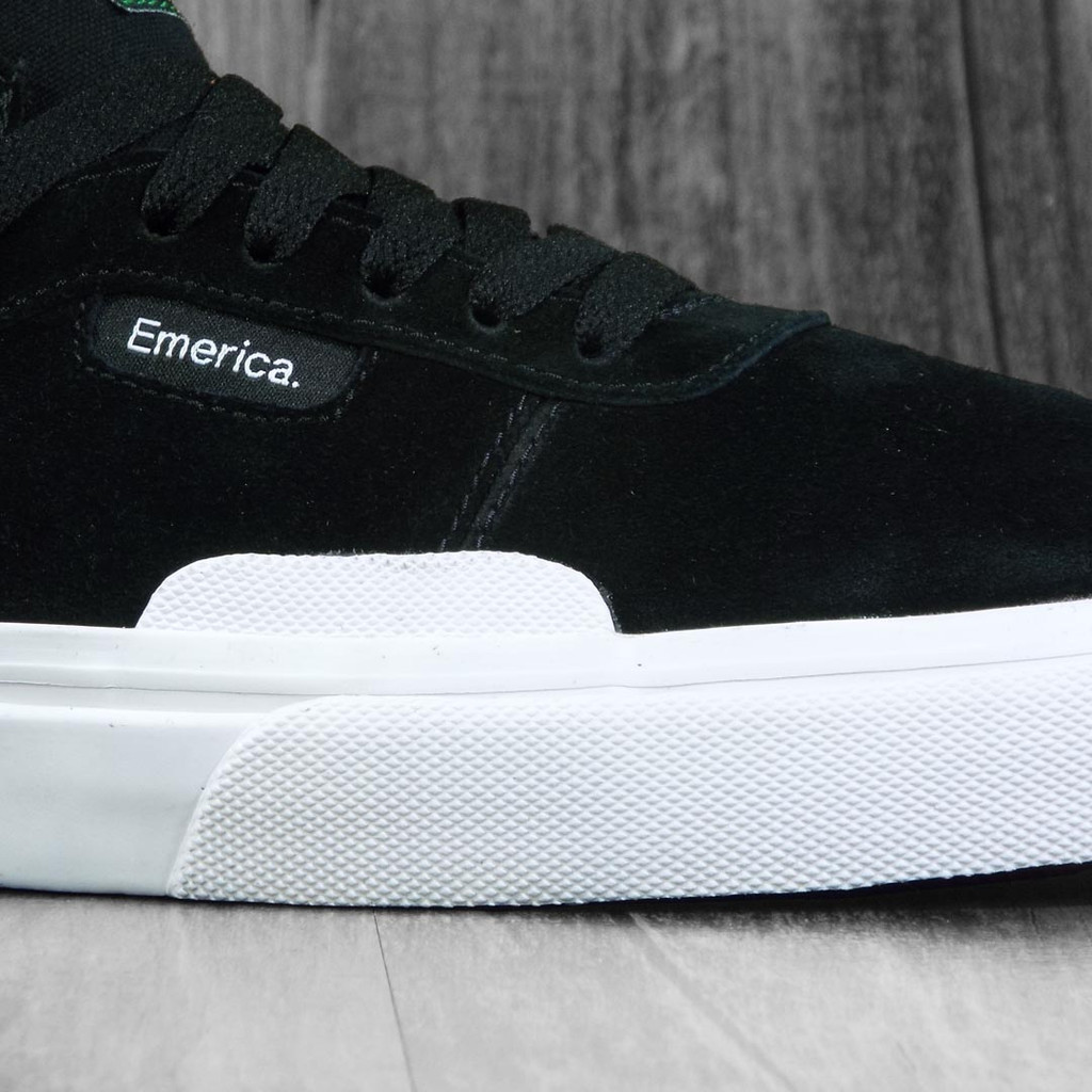Emerica Pillar Shoes - Black/White/Gold