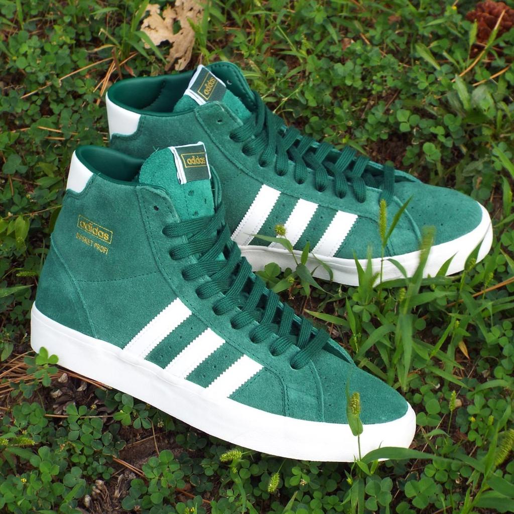 Adidas Basket Profi Shoes - Collegiate Green/Cloud White/Gold Metallic