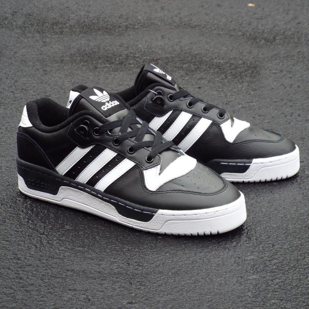 Adidas Rivalry Low Shoes - Core Black/Cloud White/Cloud White