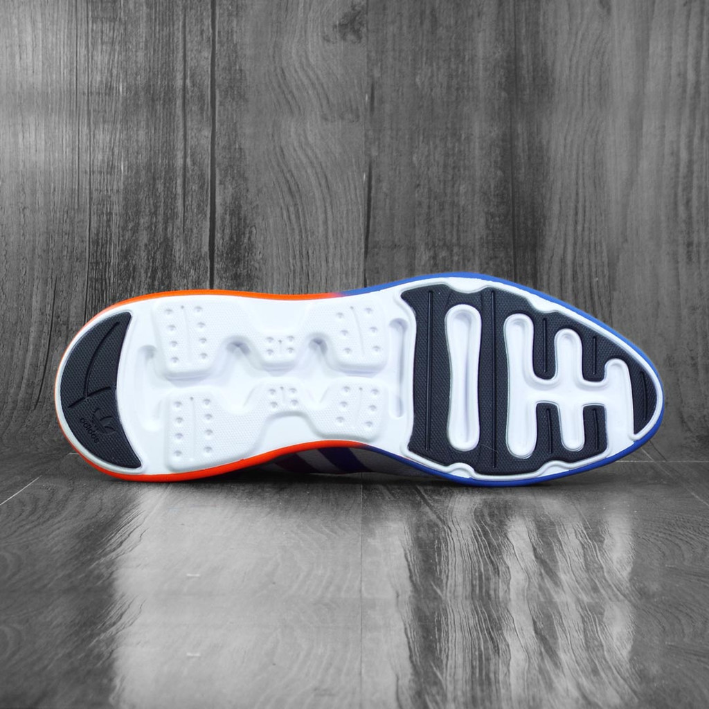 Adidas ZX 2K Flux Shoes - Cloud White/Core Black/Blue