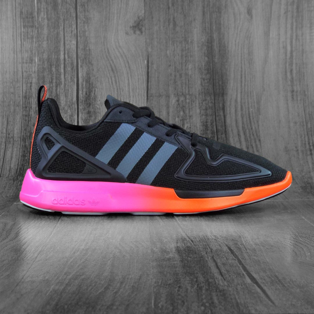 Adidas ZX 2K Flux Shoes - Core Black/Grey Six /Shock Pink