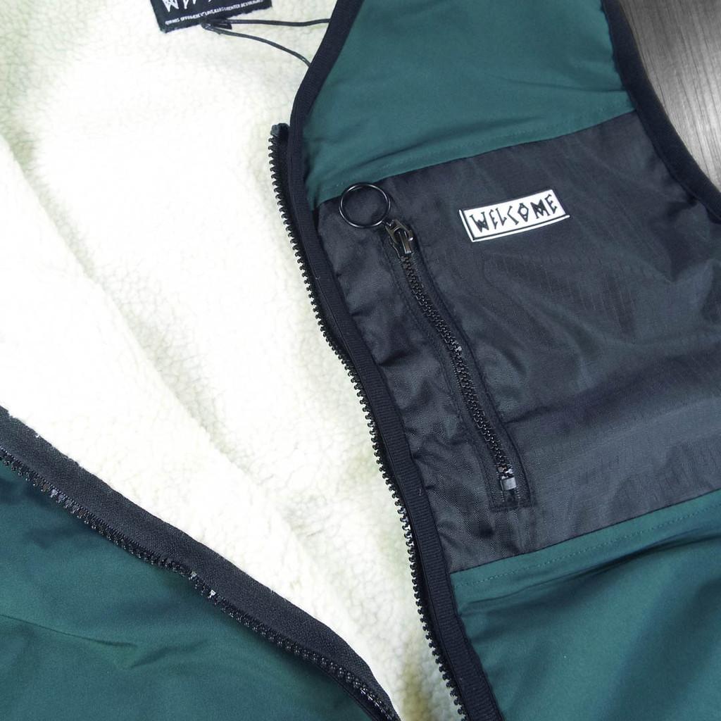 Welcome Clandestine Sherpa Lined Vest - Hunter