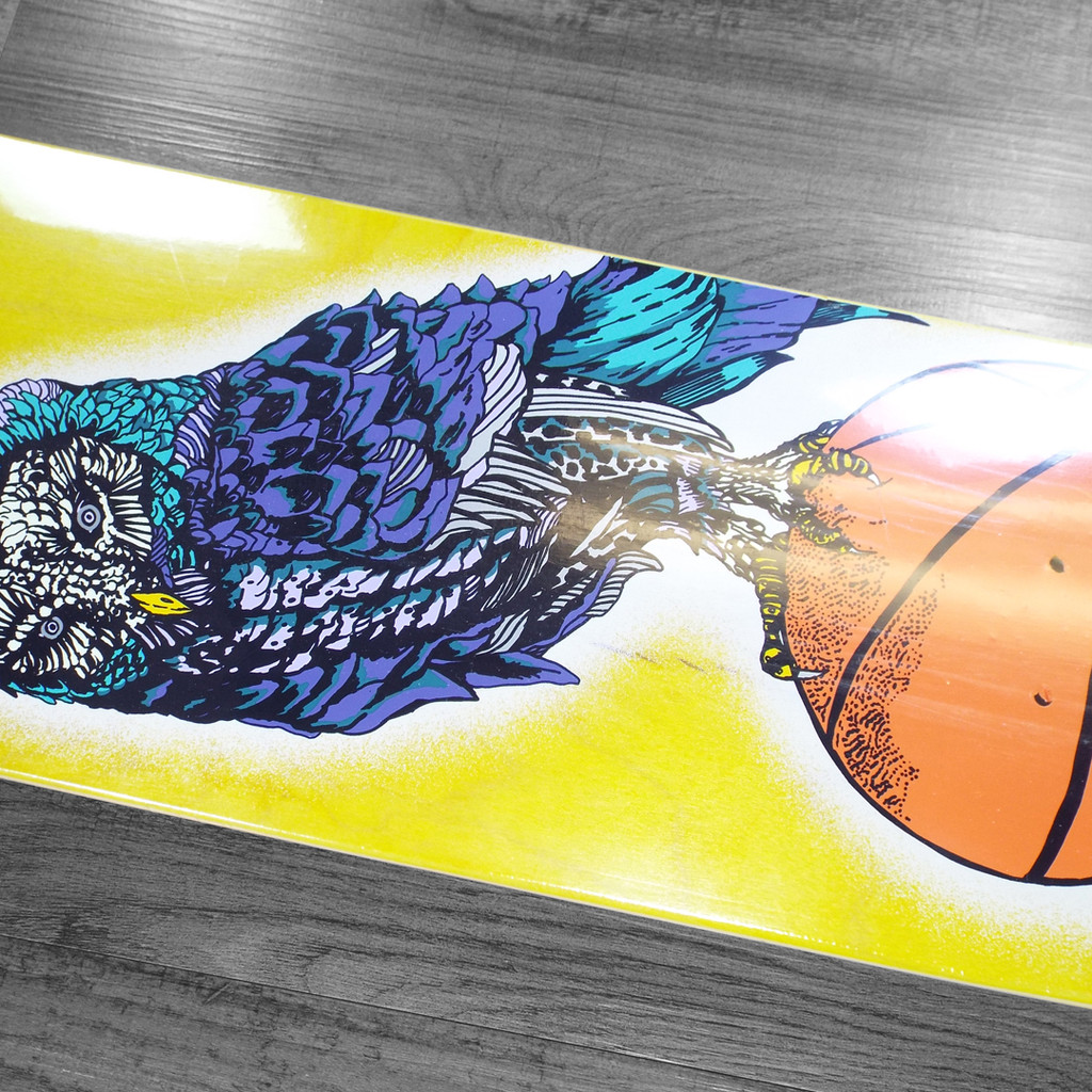 "Welcome Hooter Shooter On Bunyip Mid Skateboard Deck - 8"""
