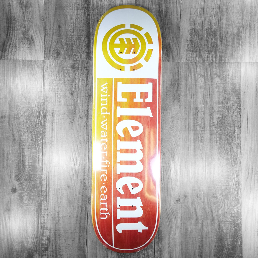 """Element Section Yellow/Red/White Skateboard Deck - 8.5"""""""