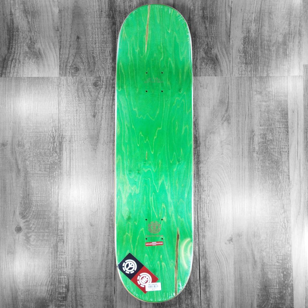 "Element 92 Classic Black/Red/White Skateboard Deck - 8"""
