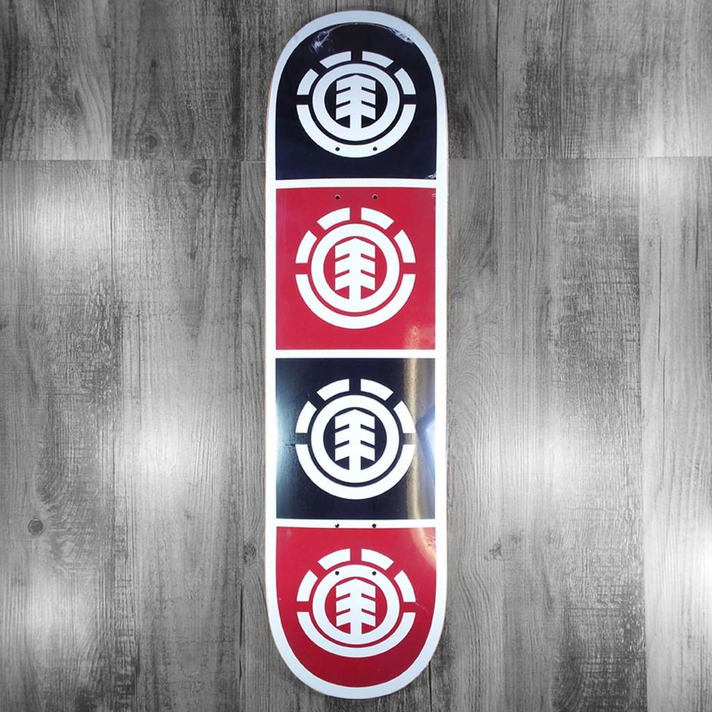 "Element Quadrant White/Black/Red Skateboard Deck - 8"""