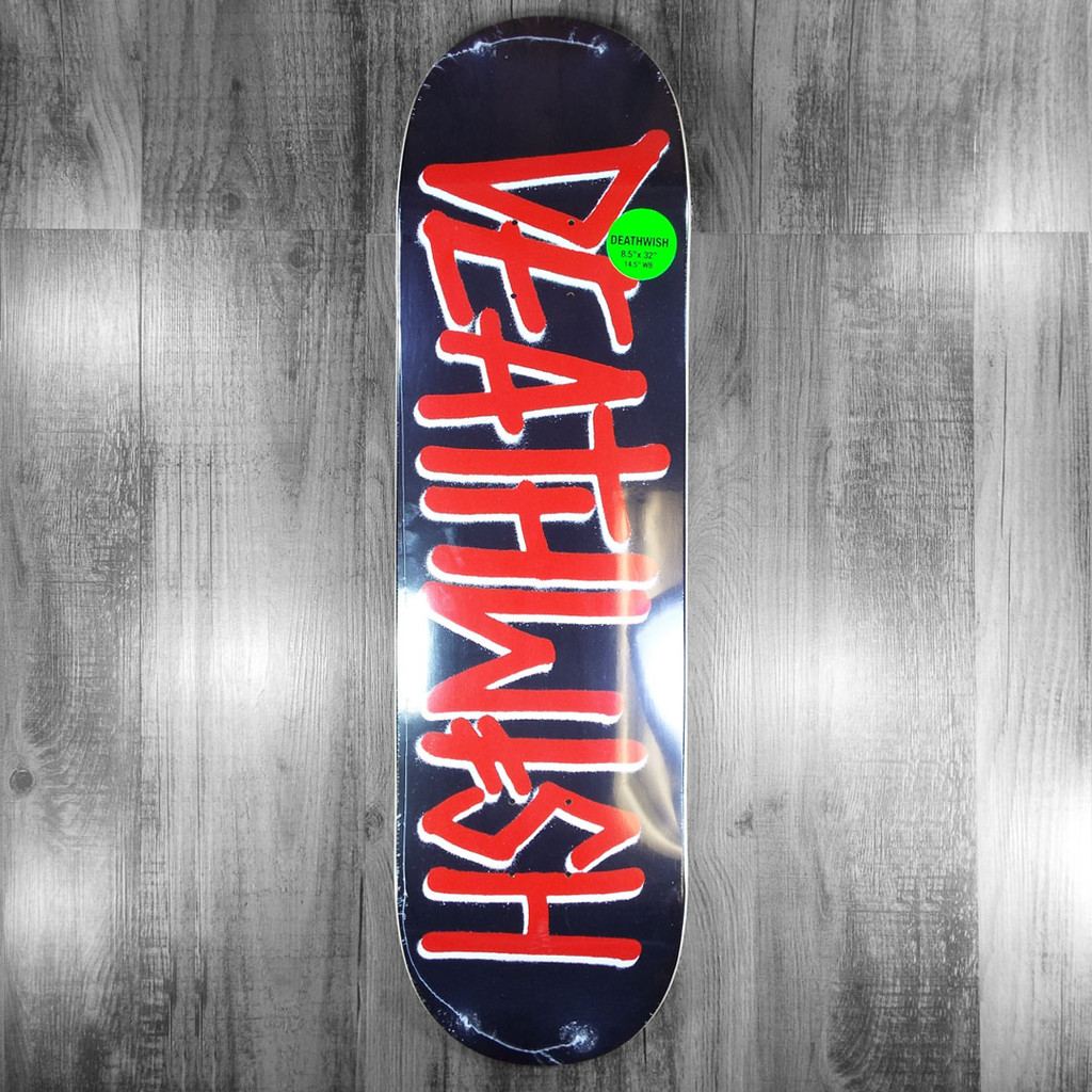 """Deathwish Deathspray OG Black/Red  Skateboard Deck - 8.5"""""""