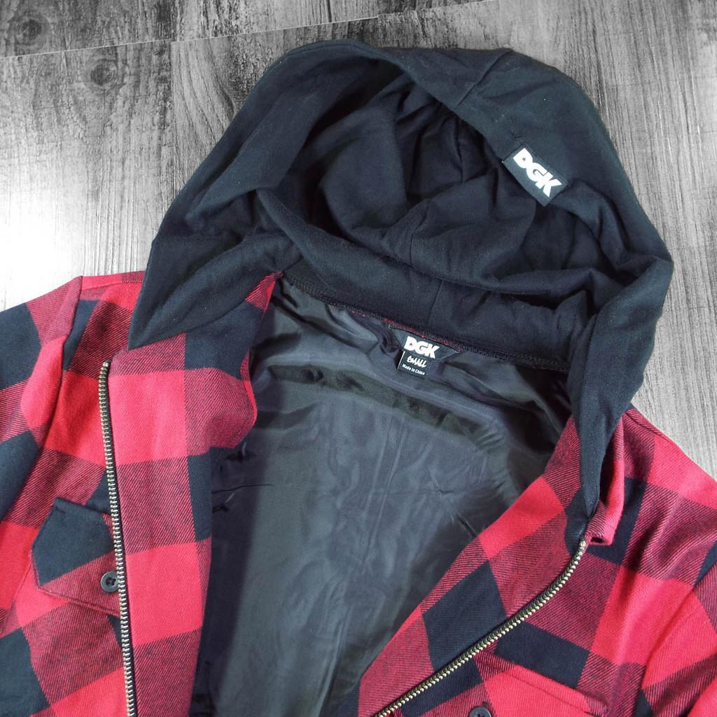 DGK Lumberjack Shacket - Red/Black