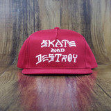 Thrasher Skate And Destroy Snapback Hat - Red