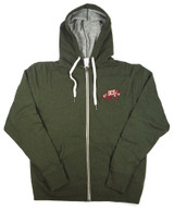DCS Embroidered Logo Hooded Sweatshirt - Olive Heather