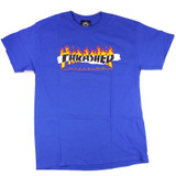 Thrasher Ripped T-Shirt - Royal Blue