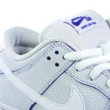 Nike SB Dunk Low Pro Premium Shoes - White/White-Game Royal