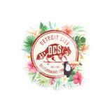 DCS Floral Jungle Vintage Sticker