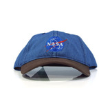 Habitat NASA Meatball Logo Snapback Hat - Blue/Brown