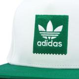 Adidas 2 Tone Snapback Hat - White/Bold Green