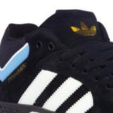 Adidas Tyshawn Shoes - Core Black/White/Light Blue