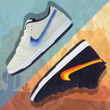 "Nike SB Dunk ""Truck It"" Pro Low Shoes -  Light Cream/Deep Royal Blue"