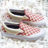 Vans Slip-On Pro Shoes - (Checkerboard) Mineral Red