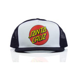 Santa Cruz Classic Dot Trucker Hat -  White/Black