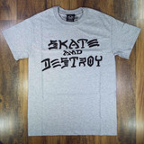 Thrasher Skate & Destroy T-Shirt - Heather Grey