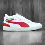 Puma Ralph Sampson Demi OG Shoes - Whisper White-High Risk Red