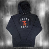 The Quiet Life Classic Shhh Pullover Hooded Sweatshirt - Black