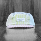 The Quiet Life Seersucker 5 Panel Hat - Multi