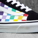 Vans Old Skool Classics Shoes - Rainbow Checkerboard