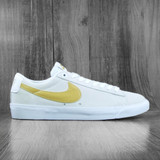 Nike SB Zoom Blazer Low GT Shoes - White/Club Gold-White-Light Thistle