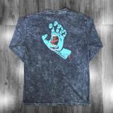 Santa Cruz Screaming Hand Longsleeve T-Shirt - Mineral Black