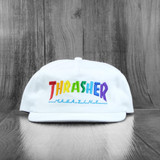 Thrasher Rainbow Mag Snapback Hat -  White