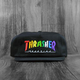 Thrasher Rainbow Mag Snapback Hat - Black