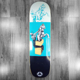Welcome Hierophant On Big Bunyip Black/Teal Skateboard Deck - 8.5""