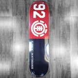 Element 92 Classic Black/Red/White Skateboard Deck - 8""