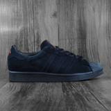 Adidas x Thrasher Superstar ADV Shoes - Core Black/Scarlet/Gold Metallic