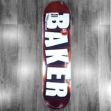 """Baker Brand Logo Red Foil Skateboard Deck - 8"""""""
