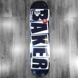 """Baker Brand Logo Black/White Skateboard Deck - 8"""""""