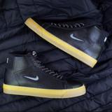 Nike SB Zoom Blazer Mid Premium Shoes - Black/White-Black-Gum Light Brown
