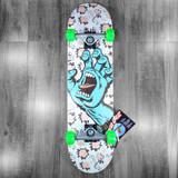 "Santa Cruz Floral Decay Hand Skateboard Complete - 8"""